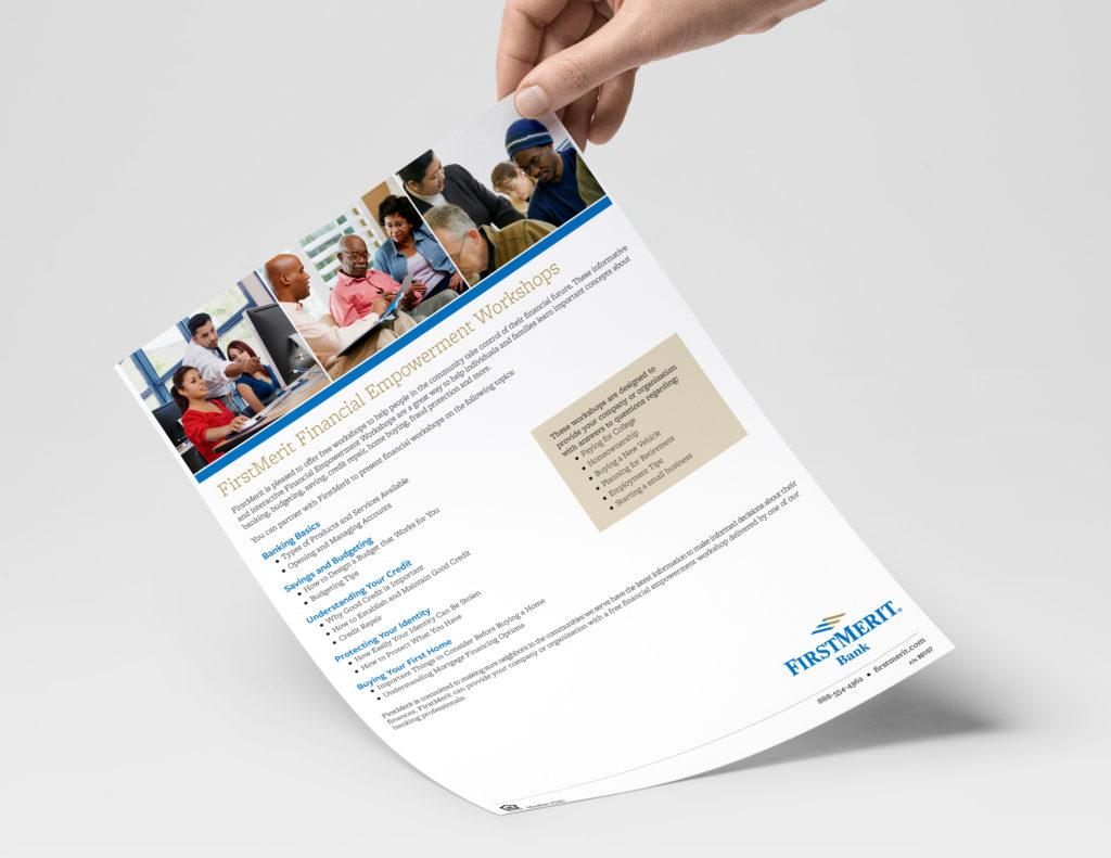 Flyer for FirstMerit Financial Empowerment Workshop