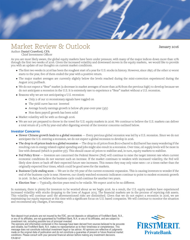 Whitepaper for FirstMerit PrivateBank