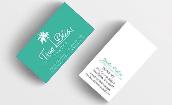 True Bliss Travel Business Card