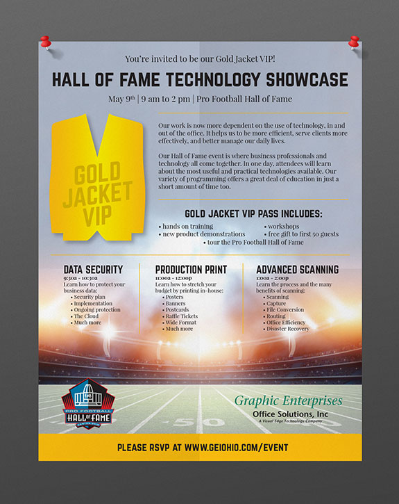 Poster Design for Football Hall of Fame Event