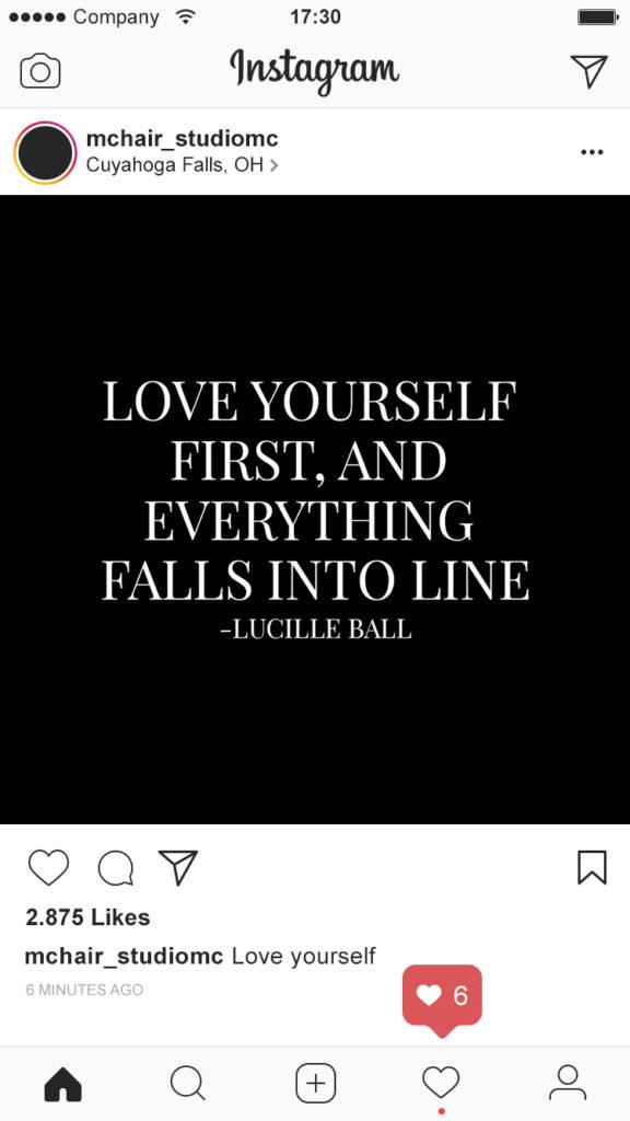 Instagram Screenshot of Salon's page